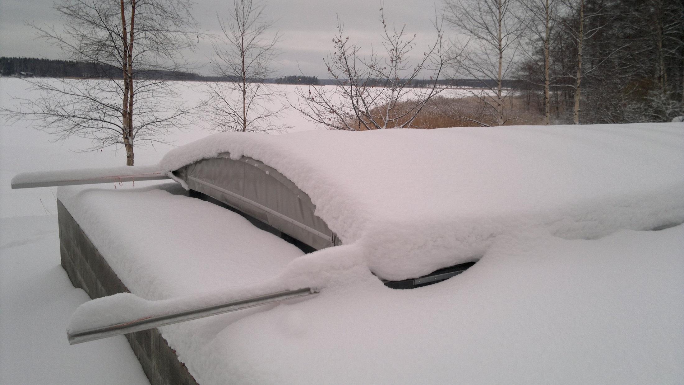 Winter covarage pool